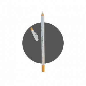White brow pencil with sharpener