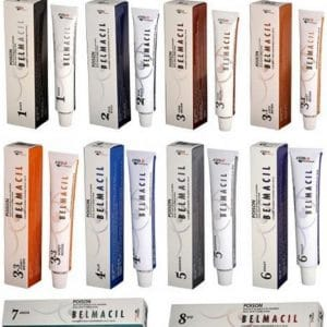 Belmacil lash and brow tint colour range