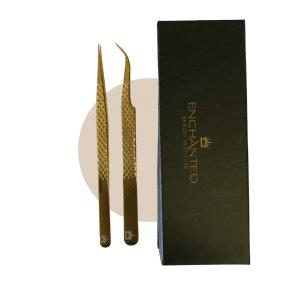 Classic eyelash extensions tweezer kit
