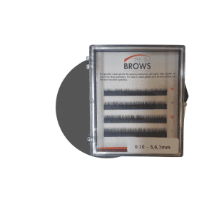 Eyebrow extensions trays