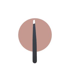 short slanted brow tweezer