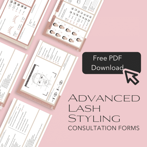 Advanced Lash styling consultation forms free download